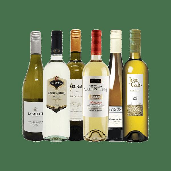 Wijnpakket Wit – Bekend & Elegant (6 flessen)