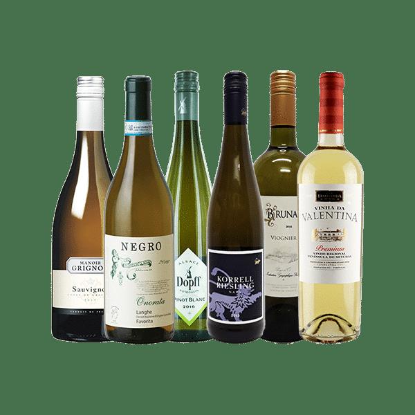 Wijnpakket Wit – Delicaat & Elegant  (6 flessen)