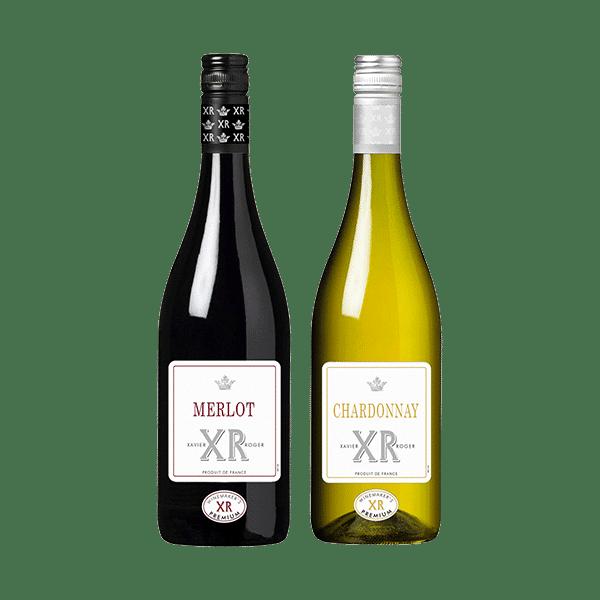 Wijnpakket Rood & Wit – XR Xavier Roger (2 flessen)